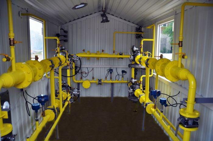 газорегуляторные пункты двумя линиями редуцирования